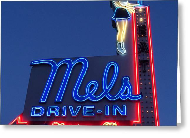 Mels Drive-in Greeting Card by Nina Prommer