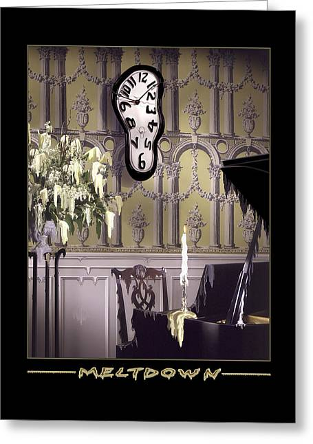 Melted Digital Greeting Cards - Meltdown Greeting Card by Mike McGlothlen