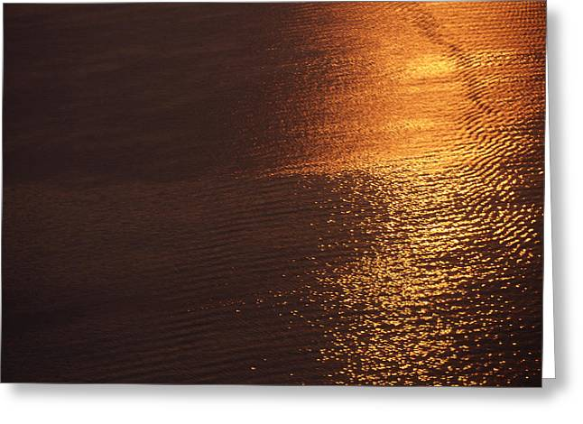 Ocean Art Photography Greeting Cards - Melted Gold of the Ocean Surface Greeting Card by Jenny Rainbow