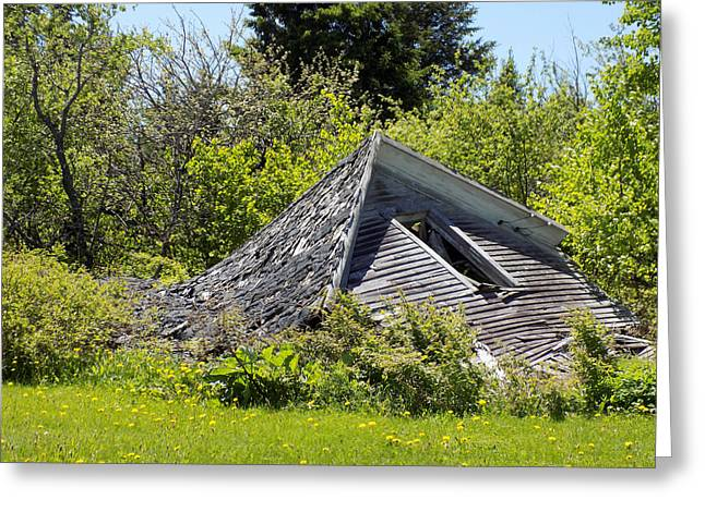 Old Maine Houses Greeting Cards - Melted Greeting Card by William Tasker