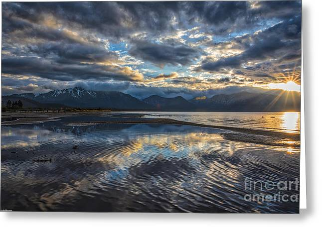 Beach Photography Greeting Cards - Melting Away Greeting Card by Mitch Shindelbower