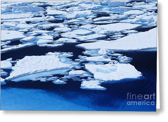 Apart Greeting Cards - Melting Ice Greeting Card by John Hyde - Printscapes