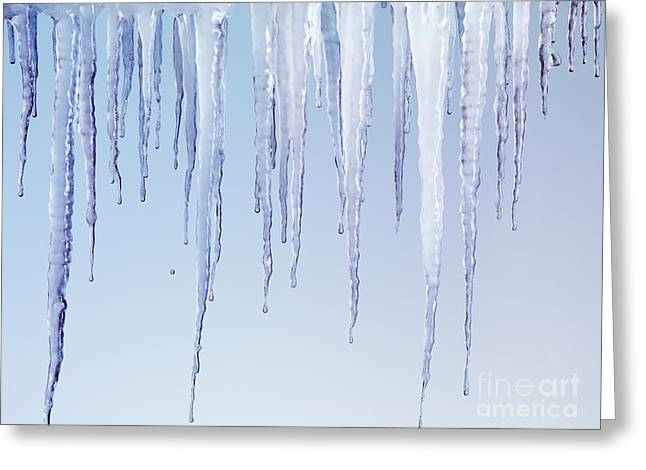 Dribbling Greeting Cards - Melting Icicles Greeting Card by Oleksiy Maksymenko