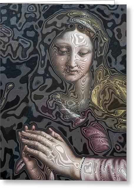 Melting Madonna Greeting Card by Carl Purcell