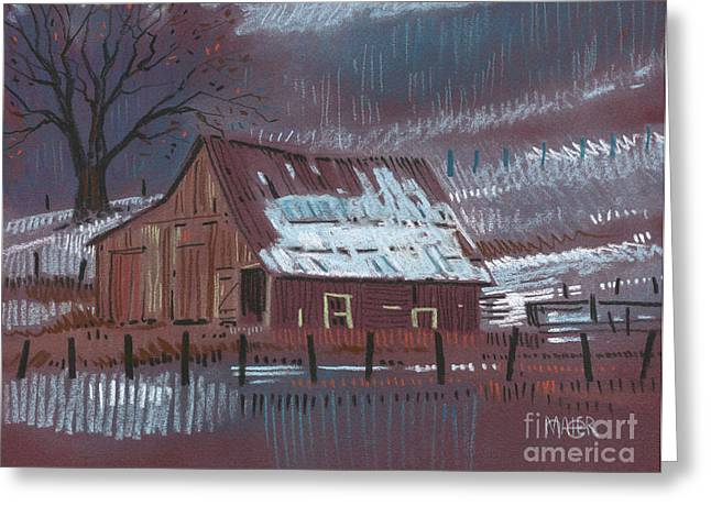 Rural Landscapes Pastels Greeting Cards - Melting Snow Greeting Card by Donald Maier