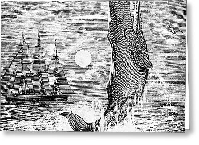 MELVILLE: MOBY DICK Greeting Card by Granger