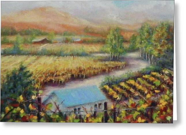 Mountain Valley Pastels Greeting Cards - Melvilles Tasting Room Greeting Card by Denise Horne-Kaplan