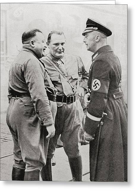 Goering Greeting Cards - Members Of The Blood Order. From Left Greeting Card by Ken Welsh