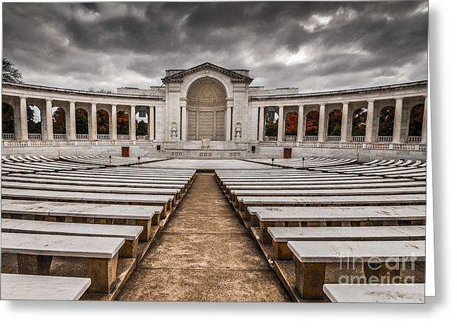 Memorial Amphitheater Arlington National Cemetery 2 Greeting Card by Gary Whitton