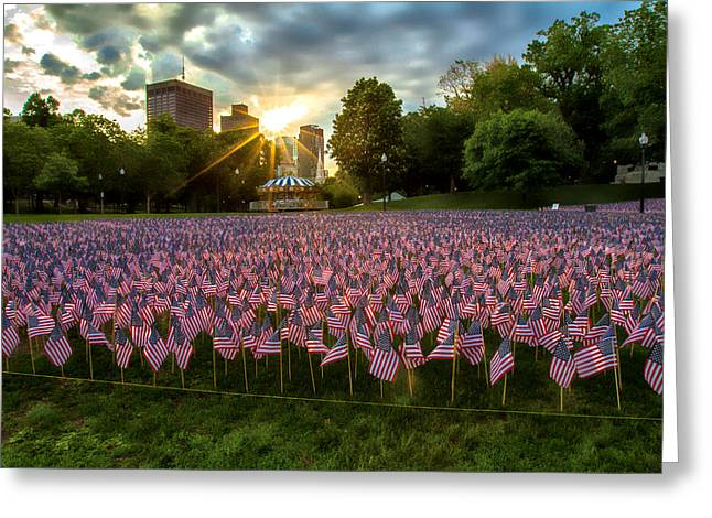 Boston Ma Greeting Cards - Memorial Day Boston MA Greeting Card by Larry  Richardson