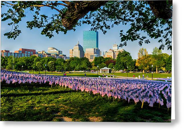 Boston Ma Greeting Cards - Memorial Day in Boston Greeting Card by Larry  Richardson