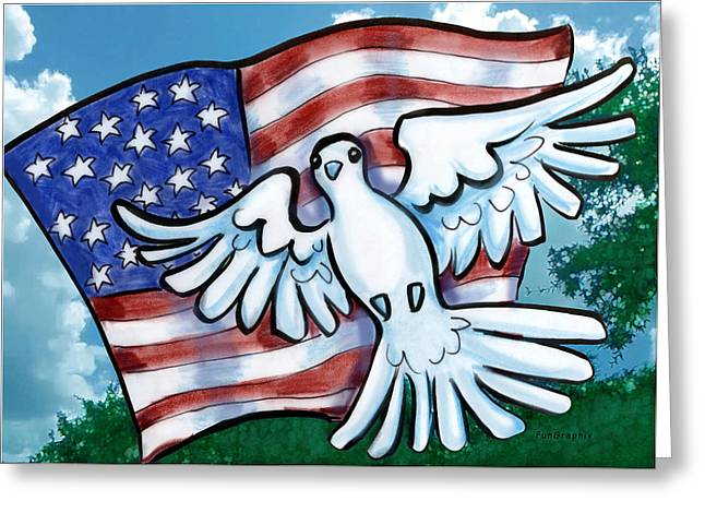 Usa Digital Art Greeting Cards - Memorial Day Greeting Card by Kevin Middleton