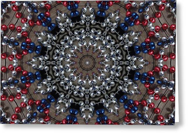 Netting Paintings Greeting Cards - Memorial Day Parade Beads Greeting Card by Lori Kingston