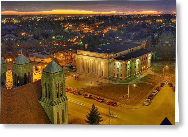 Kansas City Greeting Cards - Memorial Hall Greeting Card by Don Wolf