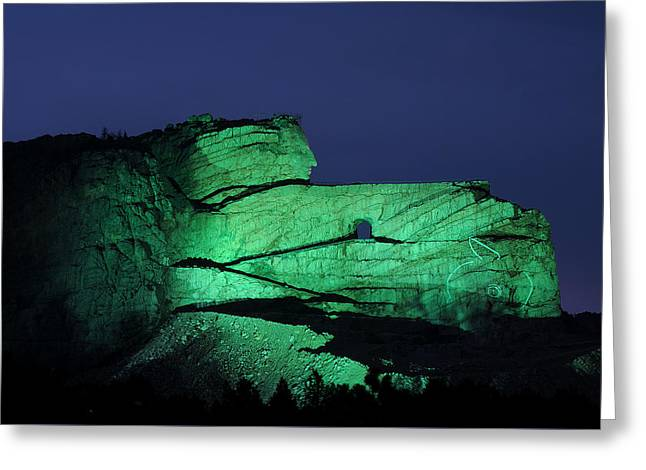 Recently Sold -  - Historic Statue Greeting Cards - Memorial to Crazy Horse Greeting Card by Cyril Furlan