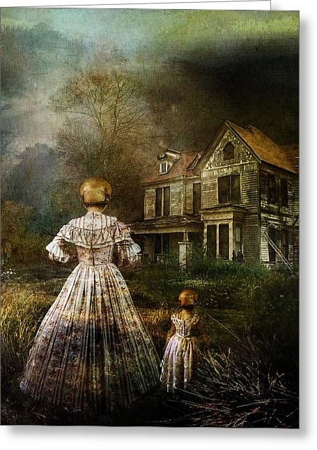 Creepy Digital Art Greeting Cards - Memories Greeting Card by Karen H