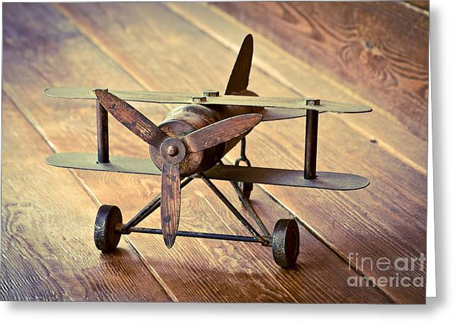 Tin Planes Greeting Cards - Memories of childhood 2 Greeting Card by Marc SOLERMARCE