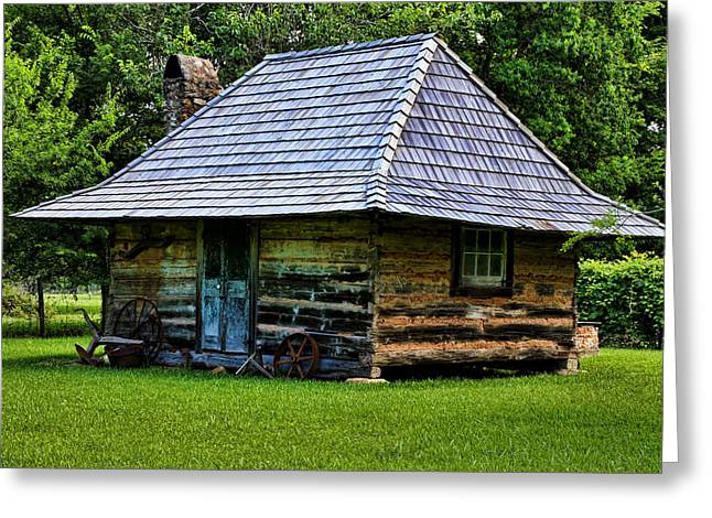 Historic Home Greeting Cards - Memories of Days Gone By Greeting Card by Judy Vincent