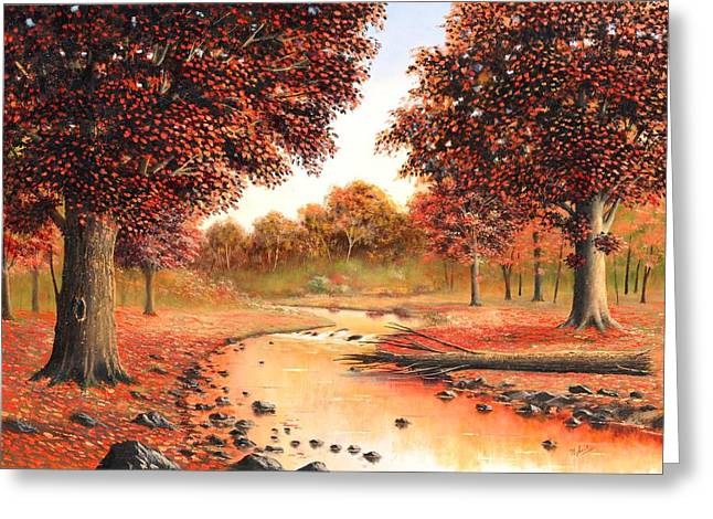 Fall Trees Greeting Cards - Memories of Fall Greeting Card by Suresh Chakravarthy