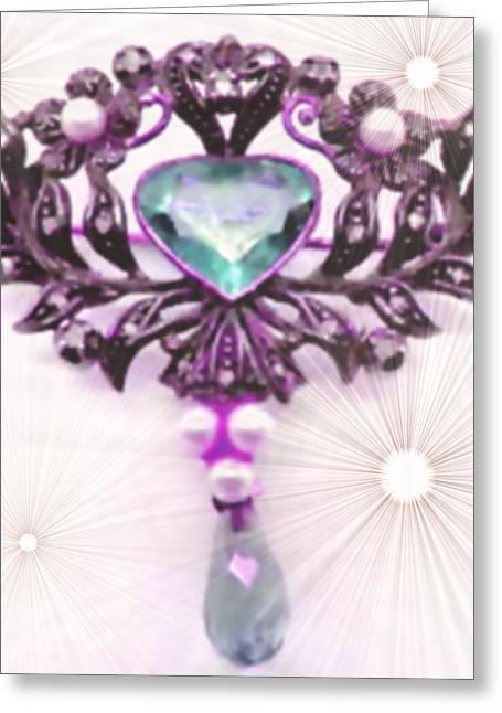 Abstract Digital Pastels Greeting Cards - Memories of Grandmas Brooches no. 13 H b Greeting Card by Gert J Rheeders