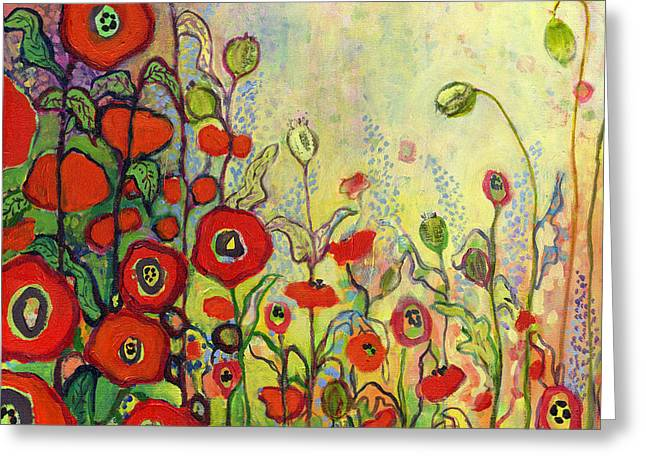 Memories Of Grandmother's Garden Greeting Card by Jennifer Lommers