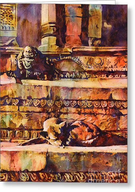 Memories Of Happier Times- Nepal Greeting Card by Ryan Fox