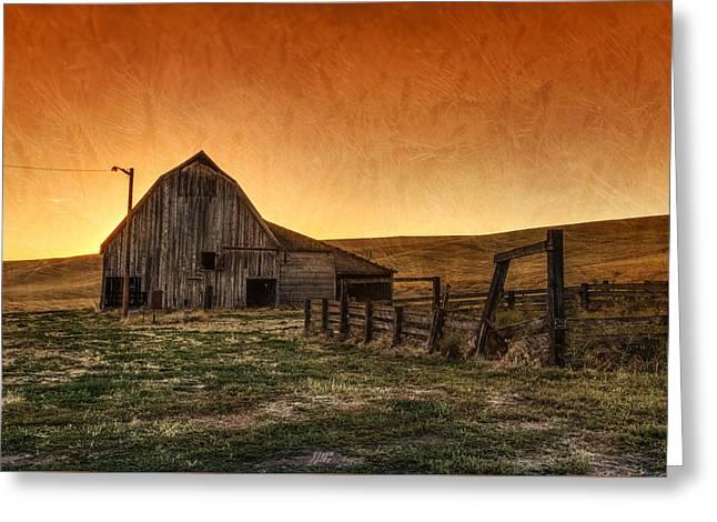 Memories Of Harvest Greeting Card by Mark Kiver