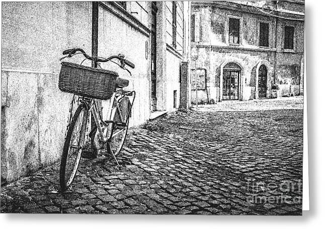 Memories Of Italy Sketch Greeting Card by Edward Fielding