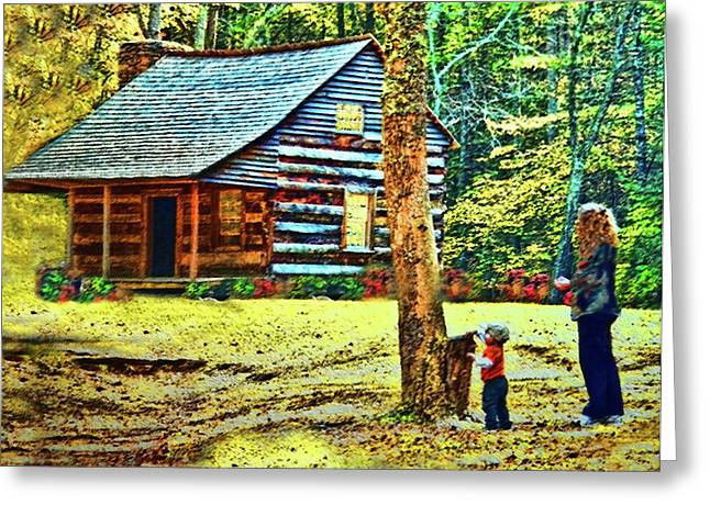 Gatlinburg Tennessee Greeting Cards - Memories of Mama And Me  Greeting Card by Deborah