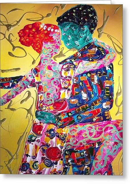 Keeffe Greeting Cards - Memories of the Carpet Ballroom Dancing Greeting Card by Darlene Keeffe