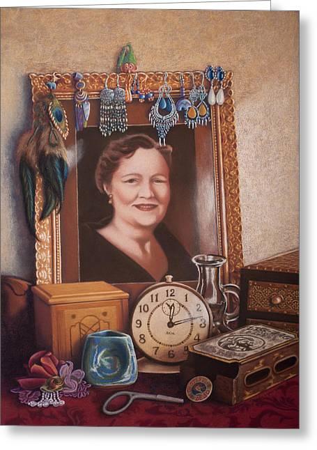 Clock Pastels Greeting Cards - Memories Greeting Card by Sandra Lynn