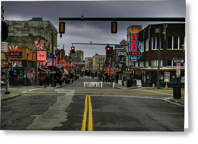 Memphis - Beale Street 001 Greeting Card by Lance Vaughn