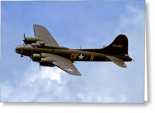 Memphis Belle Greeting Card by Bill Lindsay