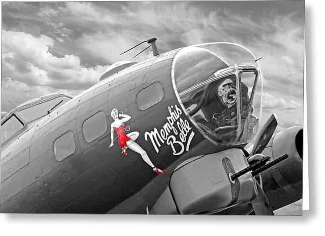 Memphis Belle Greeting Card by Gill Billington