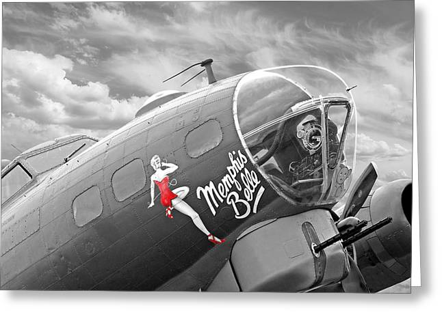 Caves Greeting Cards - Memphis Belle Greeting Card by Gill Billington