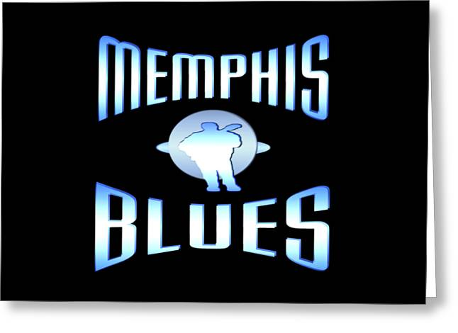 White Tapestries - Textiles Greeting Cards - Memphis Blues Greeting Card by Peter Fine Art Gallery  - Paintings Photos Digital Art
