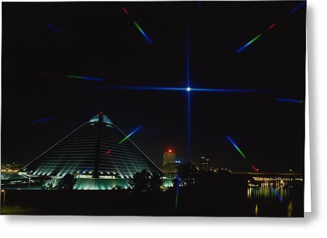 Taliaferro Greeting Cards - Memphis Christmas Starburst Greeting Card by Jerry Taliaferro