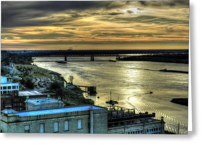 Tennessee River Greeting Cards - Memphis Fall HDR 003 Greeting Card by Lance Vaughn