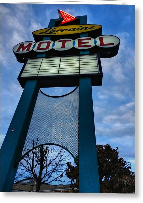 Memphis - Lorraine Motel 001 Greeting Card by Lance Vaughn