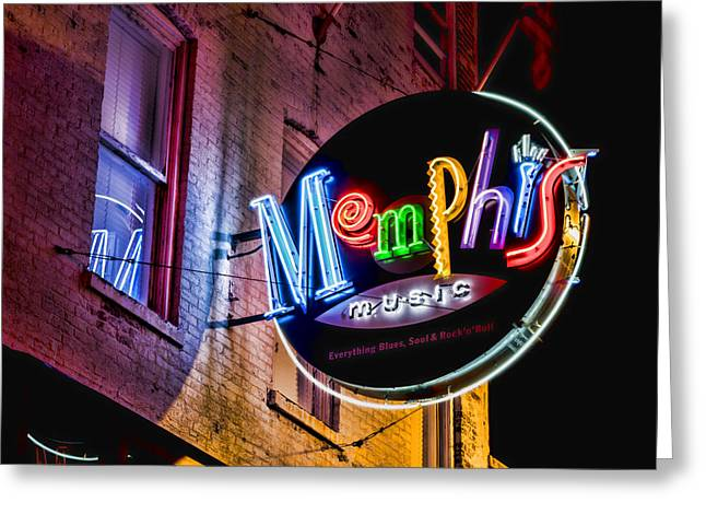 Memphis Music Greeting Card by Stephen Stookey