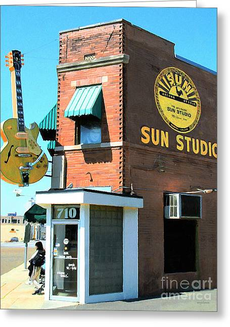 Memphis Sun Studio Birthplace Of Rock And Roll 20160215 Greeting Card by Wingsdomain Art and Photography