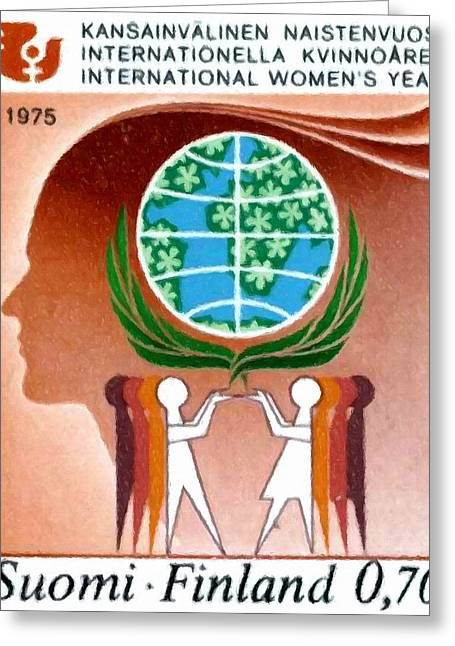 Men And Women Working For Peace Greeting Card by Lanjee Chee