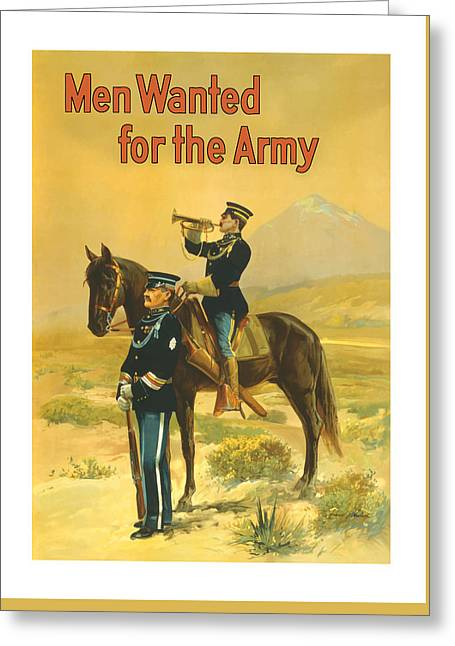 Army Soldier Greeting Cards - Men Wanted For The Army Greeting Card by War Is Hell Store