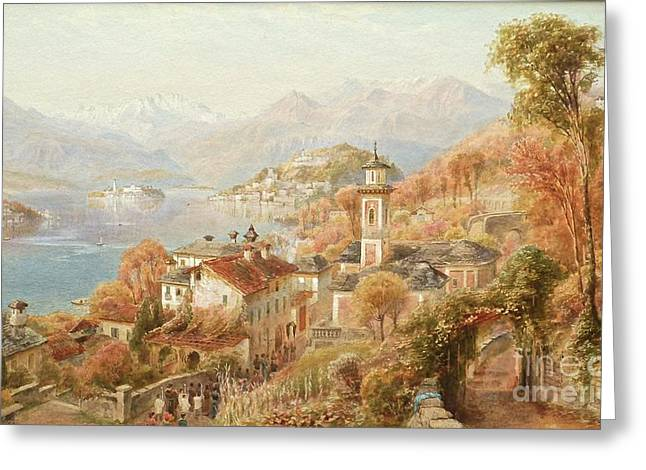 Menaggio Lake Como Greeting Card by Celestial Images