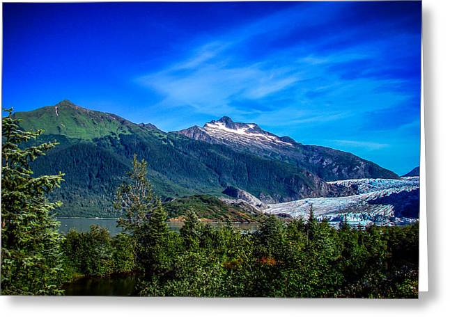 Cruising Photographs Greeting Cards - Mendenhall Glacier Alaska Greeting Card by Scott McGuire