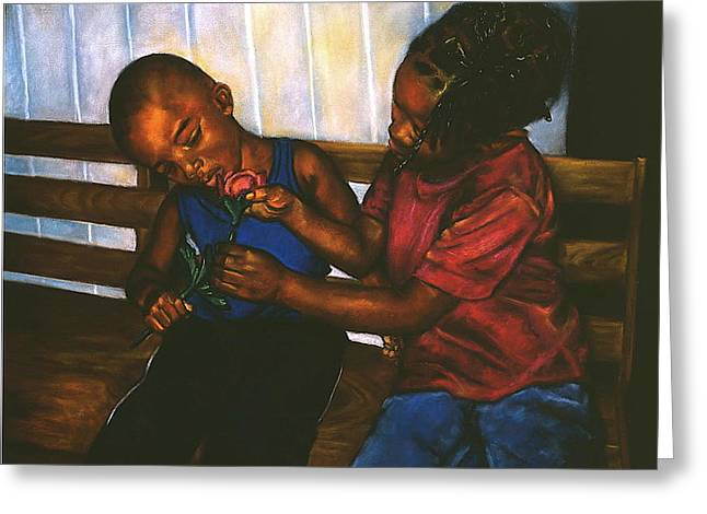 People Pastels Greeting Cards - Mending Hearts Greeting Card by Curtis James