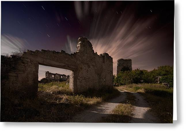 Ruins Greeting Cards - Mendinueta Un Pueblo Olvidado. Mendinueta A Forgotten People Greeting Card by Martin Zalba