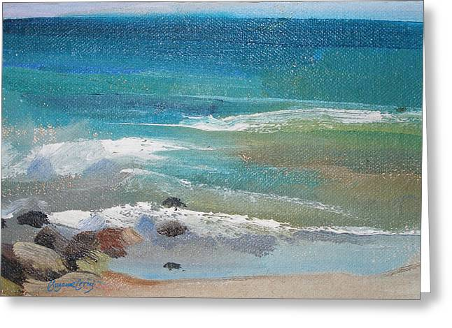 Seacape Greeting Cards - Mendocino Coast-Ocean View Greeting Card by Suzanne Giuriati-Cerny