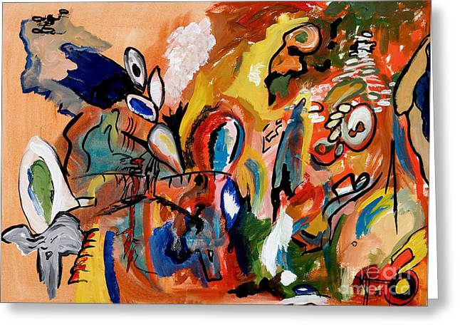 Mccoy Paintings Greeting Cards - Meneage Street Greeting Card by Nickola McCoy-Snell
