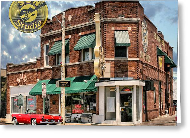 Tennessee Landmark Greeting Cards - Memphis - SUN STUDIO Greeting Card by Hans Wolfgang Muller Leg